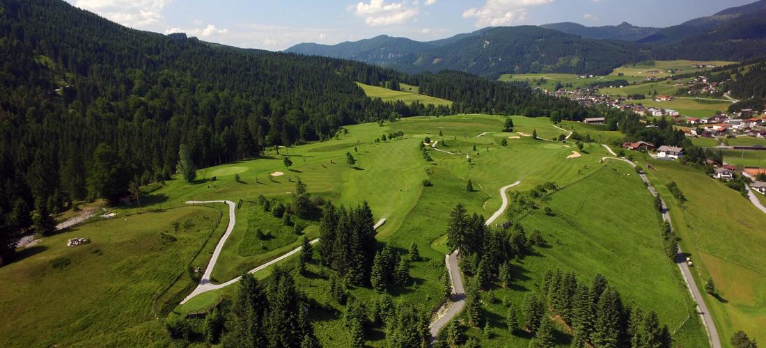 Ansicht des golfplatzes in Achenkirch - golfschule tirol